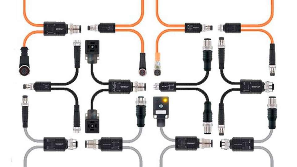 Kompakte Y-Verteiler mit Kabelabgang
