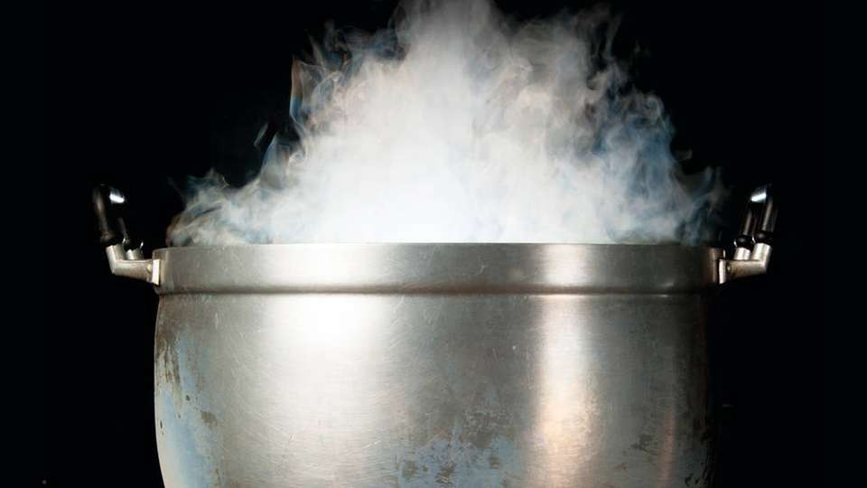 Dampf im Kessel – mit über 97 Prozent Wirkungsgrad